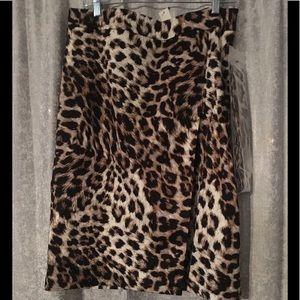NWT Talbots animal print skirt